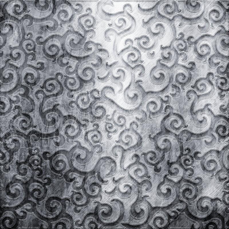 De plaque métallique avec l'ornement illustration libre de droits