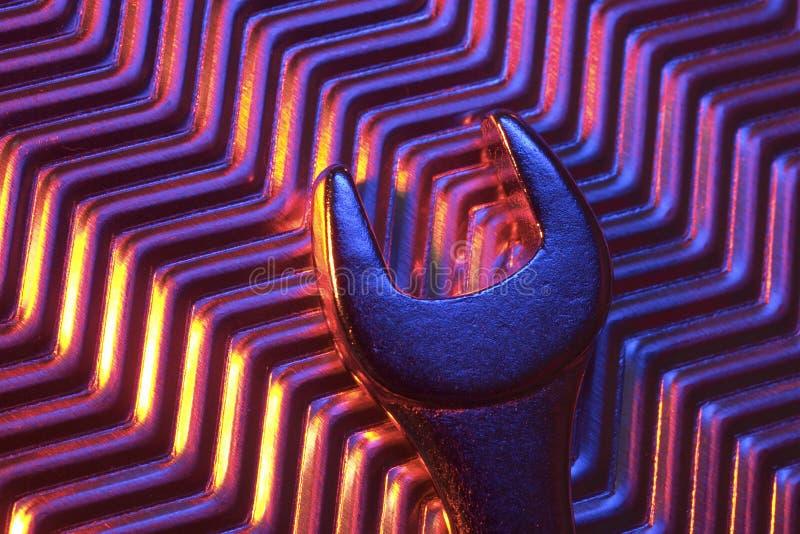 De plaque métallique et clé image libre de droits