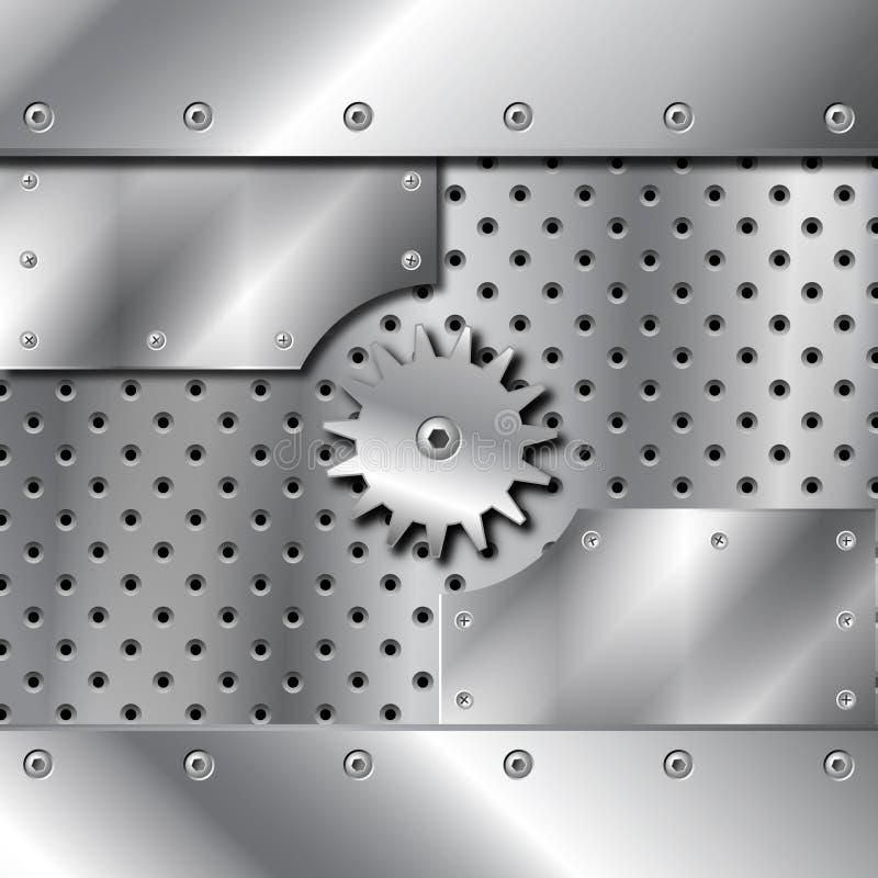 De plaque métallique et trains illustration libre de droits