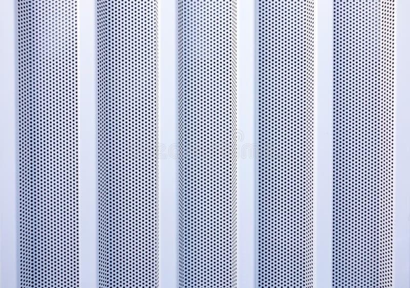 De plaque métallique perforé image stock