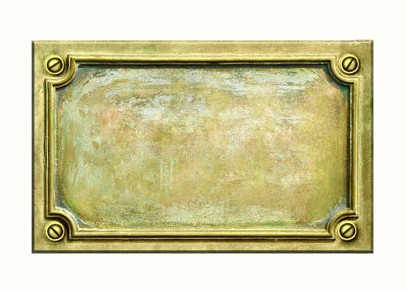 De plaque van het messing