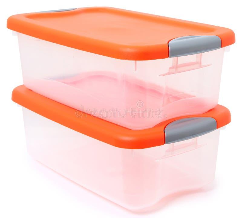 De plastic Bak van de Container van de Opslag royalty-vrije stock fotografie