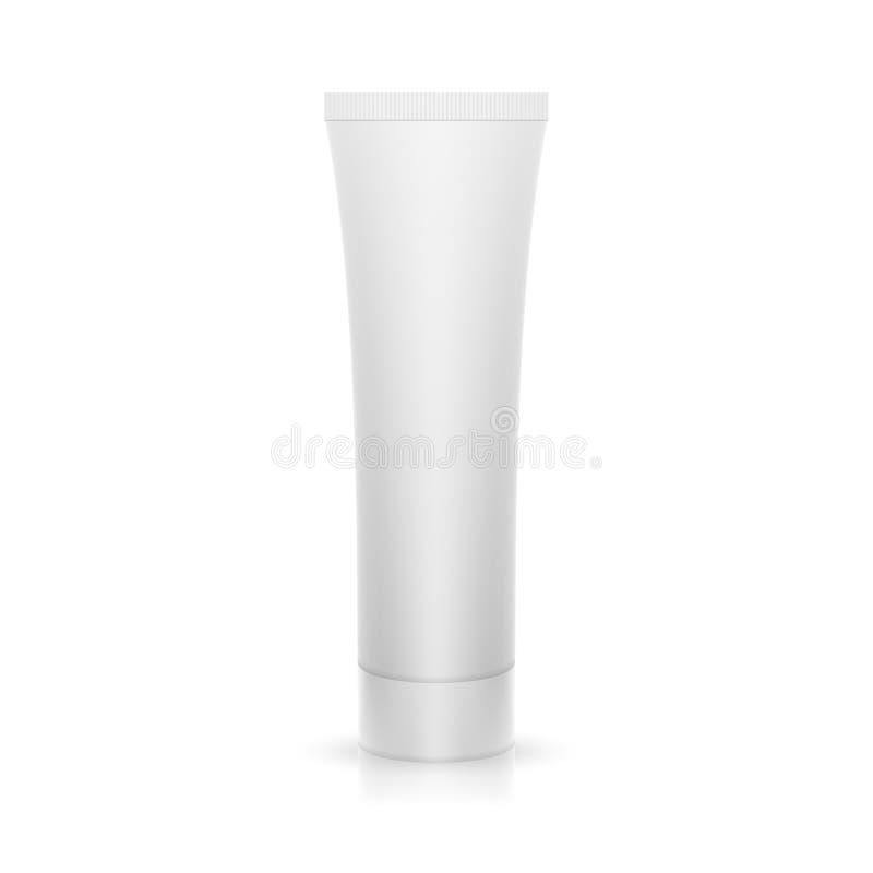 De plastic buis op glanzende oppervlakte vector illustratie