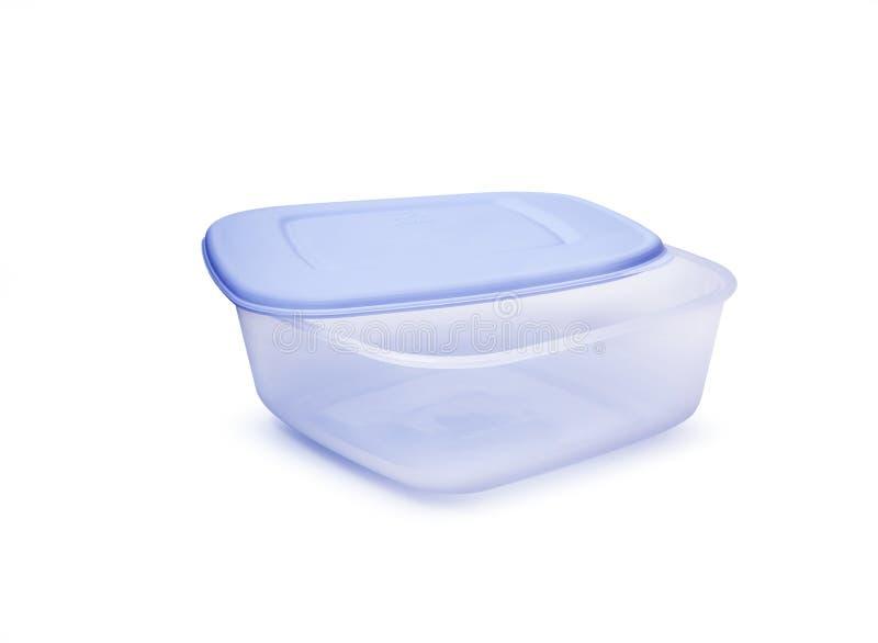 De plastic containers van de voedselopslag op een witte achtergrond royalty-vrije stock foto's