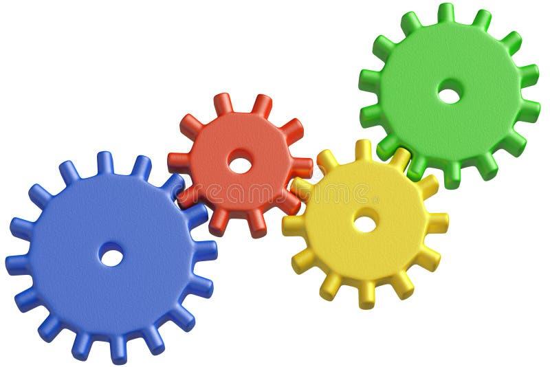 Download De Plastic Kleurrijke Bouw Van Speelgoedtandraderen Stock Illustratie - Illustratie bestaande uit concept, onderwijs: 39117673