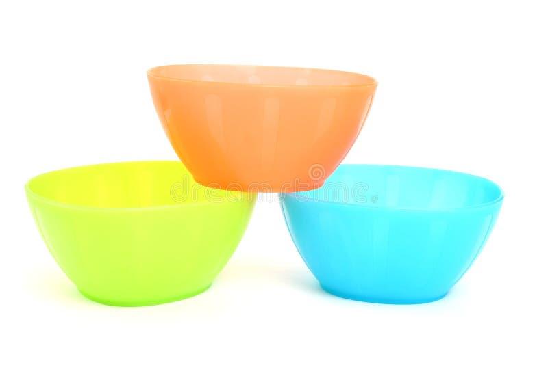 De plastic Kommen van de Snack stock afbeelding