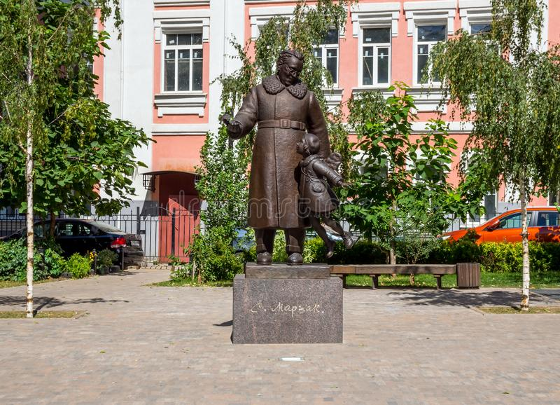 De plastische samenstelling van de dichter 'Marshak en zijn muse in de stad van Voronezh stock afbeelding
