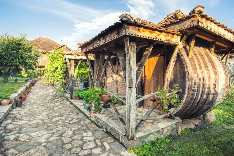 De plattelandshuisjes van de wijnmakerijtoevlucht royalty-vrije stock afbeeldingen