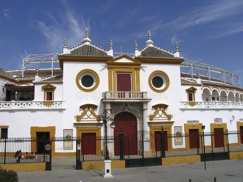 de plaza sevilla spain toros fotografering för bildbyråer
