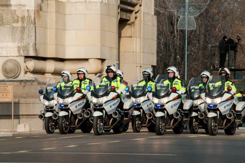 De ploeg van de politiemotorfiets royalty-vrije stock foto