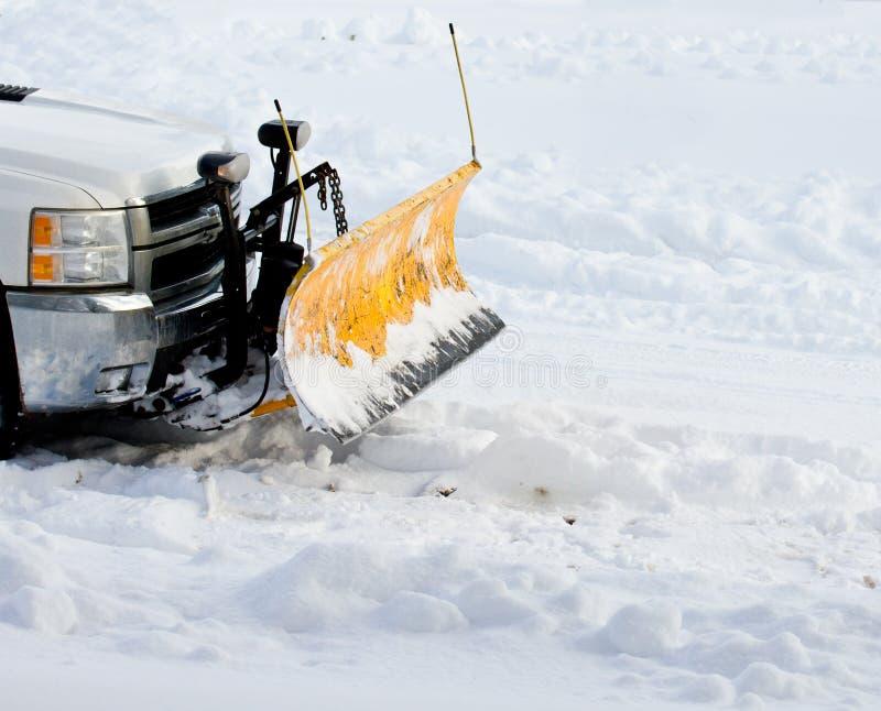 De ploeg van de sneeuw stock afbeelding