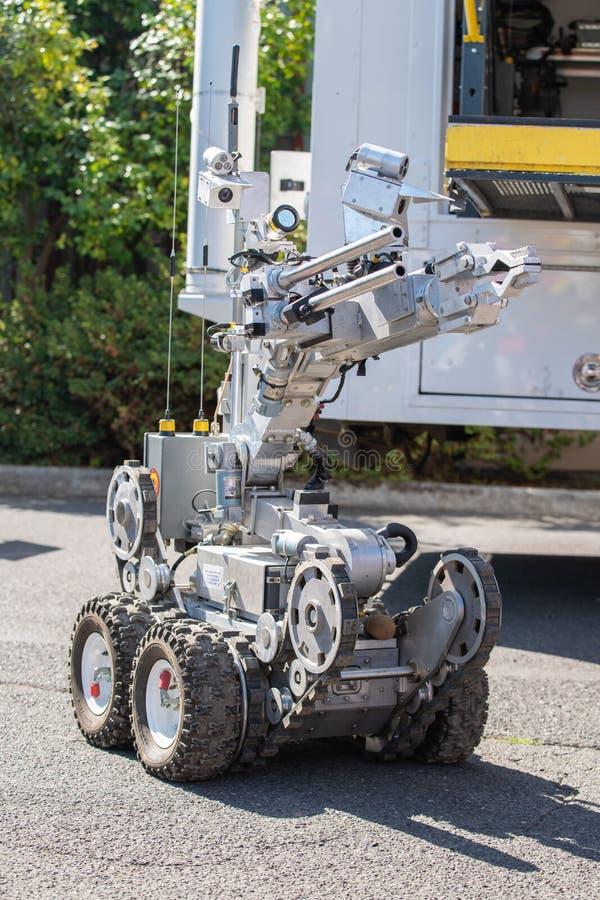 De ploegrobot van de politiebom royalty-vrije stock afbeeldingen