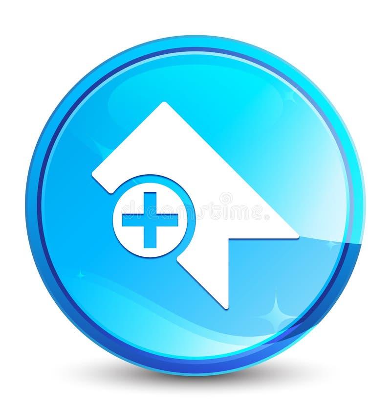 De plons natuurlijke blauwe ronde knoop van het referentiepictogram stock illustratie