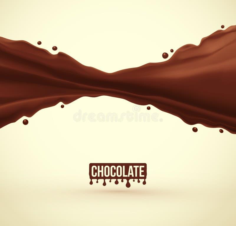 De plons van de chocolade royalty-vrije illustratie