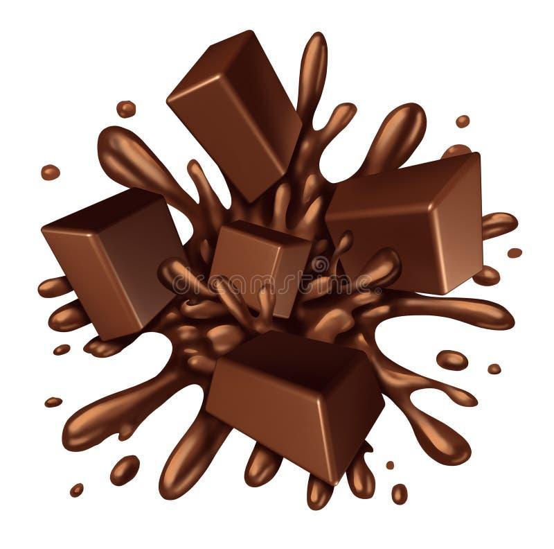 De plons van de chocolade stock illustratie