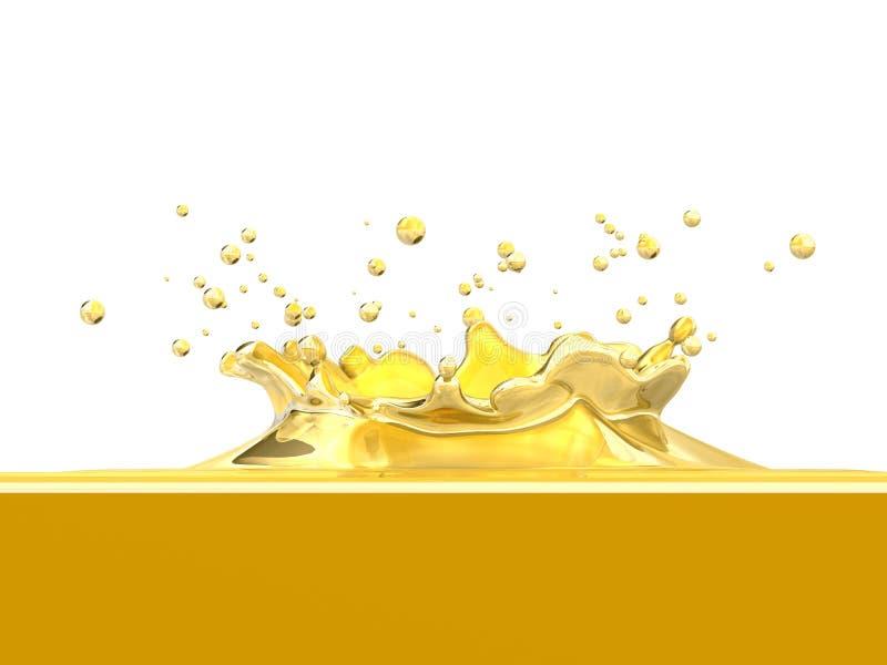 De plons van de citroen vector illustratie