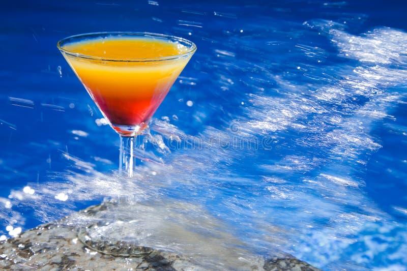 De Plons van de cocktail stock foto's