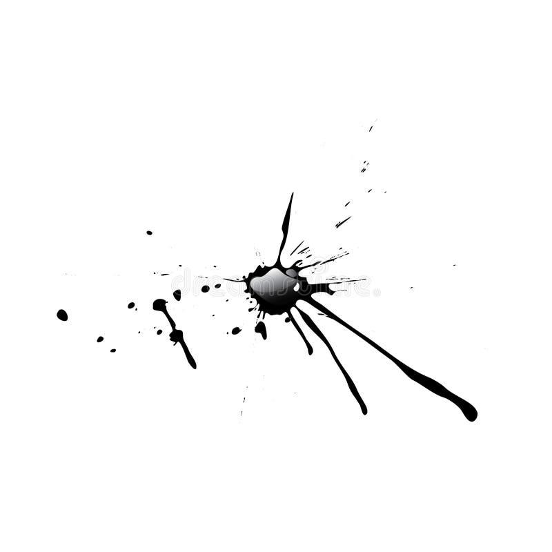 De plons van de inkt/Glanzend druppeltje/Vectorillustratie stock illustratie