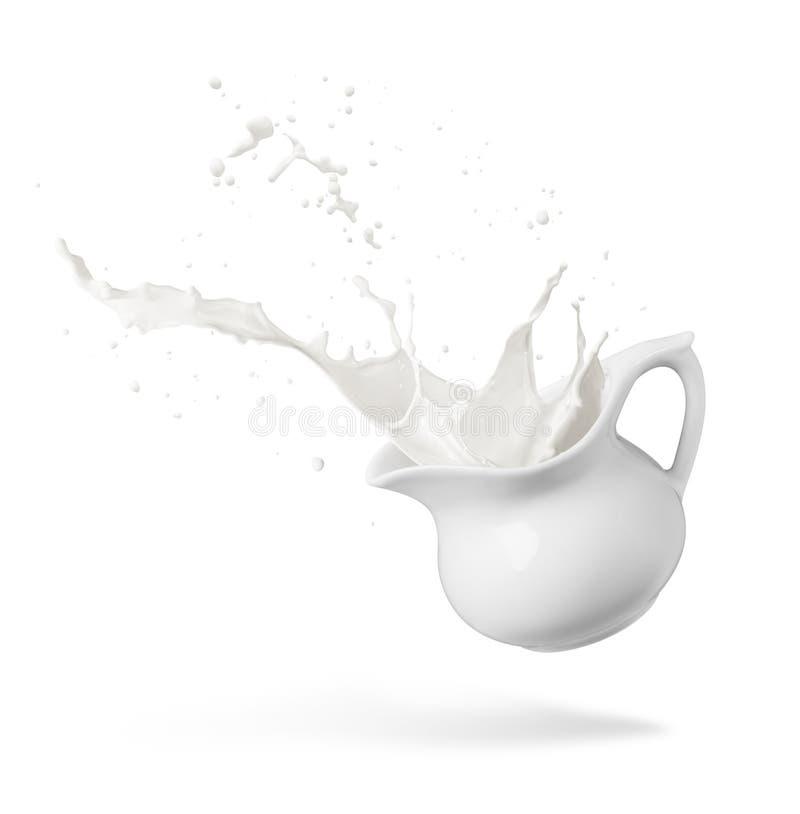 De plons van de melk royalty-vrije stock foto's