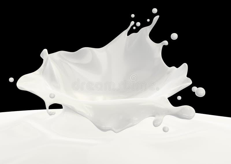 De plons van de melk stock illustratie