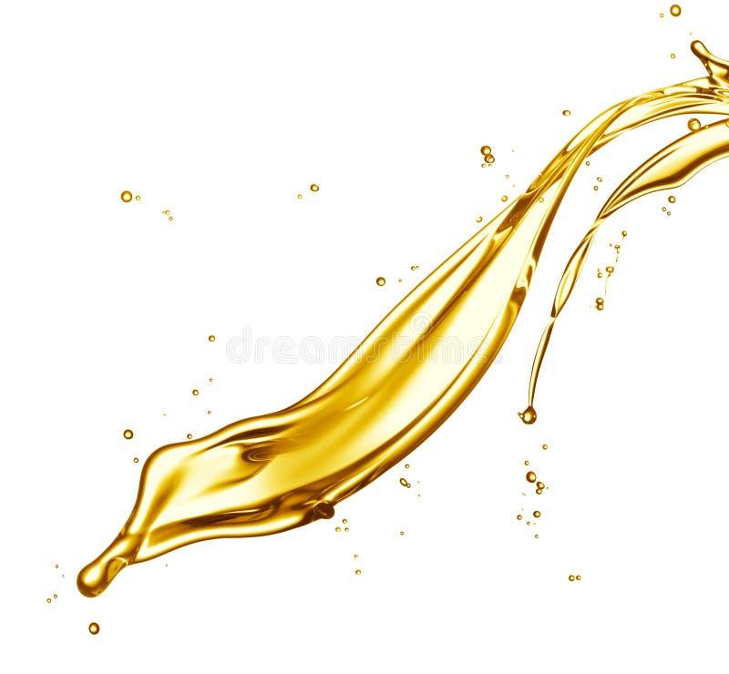 De plons van de olie stock fotografie