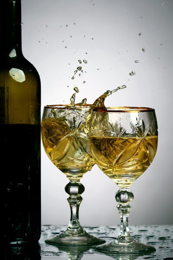 De plons van de wijn royalty-vrije stock fotografie