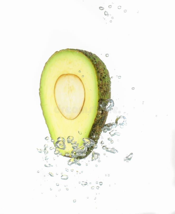 De plons van het avocadowater stock afbeelding