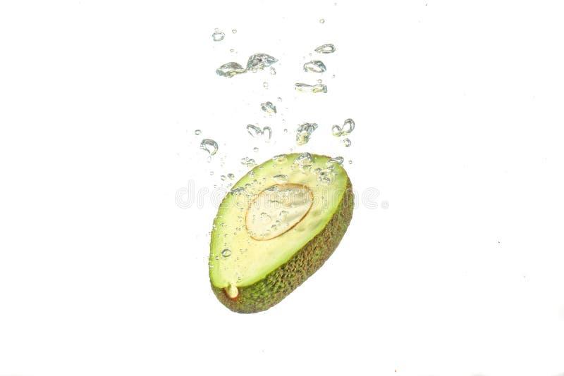 De plons van het avocadowater stock foto