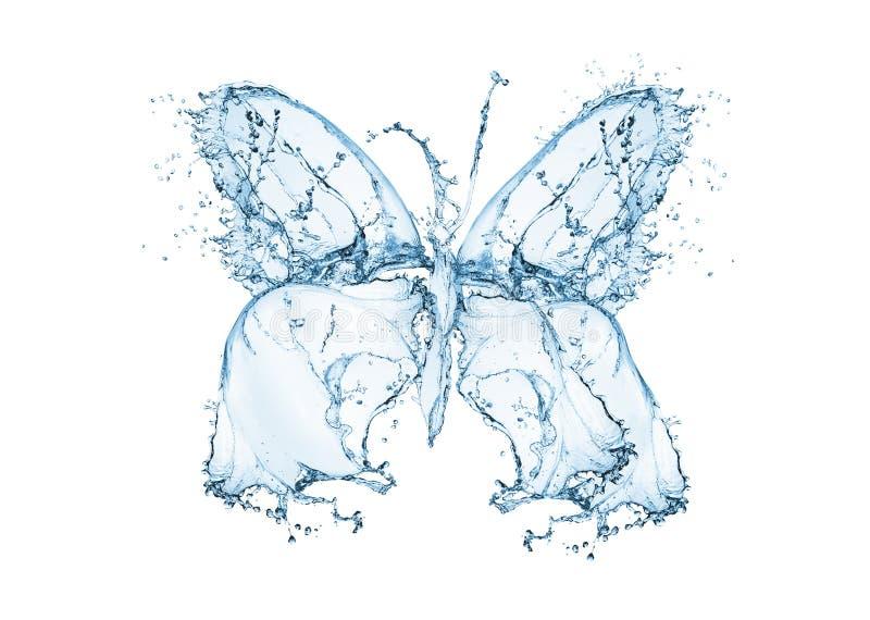 De plons van het vlinderwater stock foto's