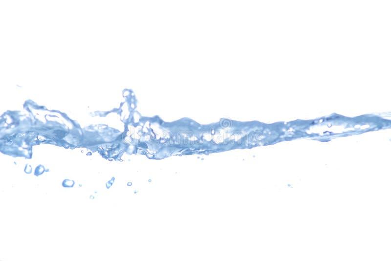 De plons van het water die op wit wordt geïsoleerdd royalty-vrije stock afbeelding