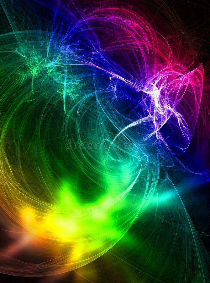 De plons van kleuren stock illustratie
