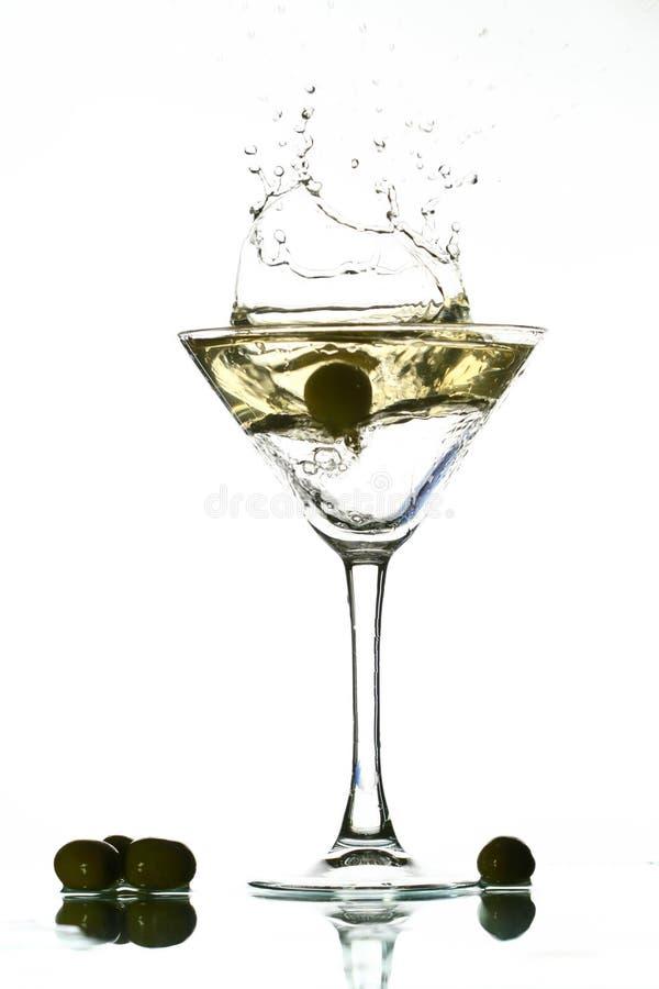 De plons van martini royalty-vrije stock afbeeldingen