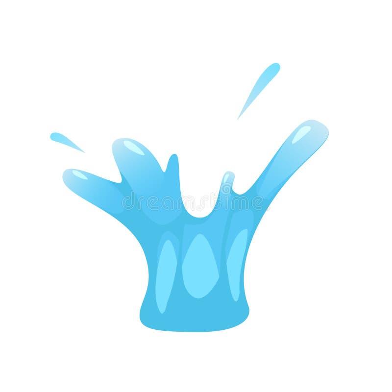 De plons van vloeistof, water, stamelt Voor illustraties, animatie, beeldverhaalstijl, geïsoleerde vector, vector illustratie