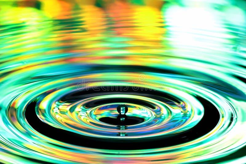 De plons van waterdalingen Rimpelingen en bezinningen over oppervlakte royalty-vrije stock foto