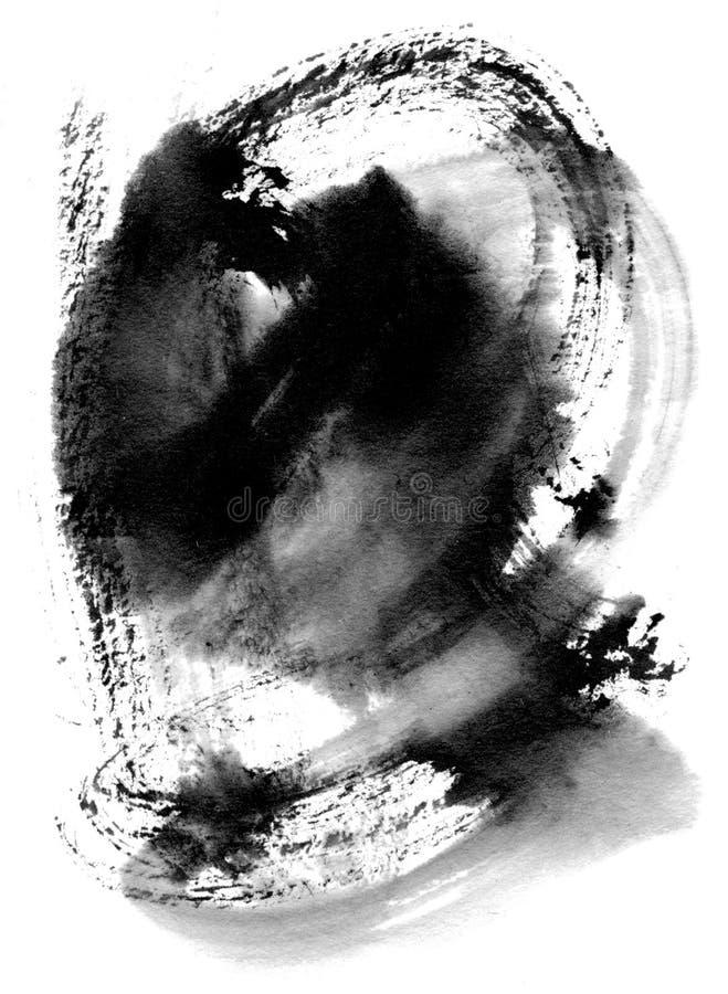 De plonsachtergrond van de inkt royalty-vrije illustratie