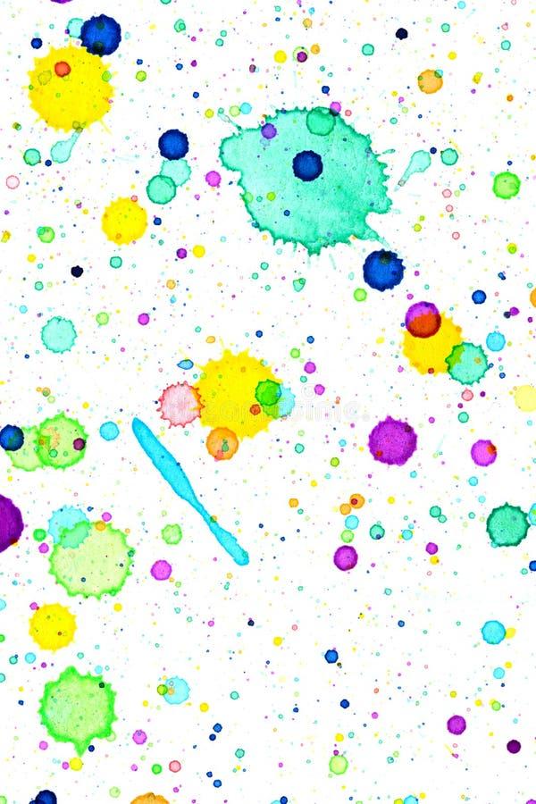 De plonsachtergrond van de waterkleur vector illustratie