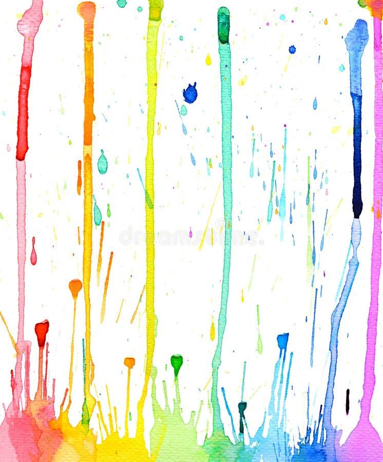 De plonsachtergrond van de waterkleur royalty-vrije illustratie