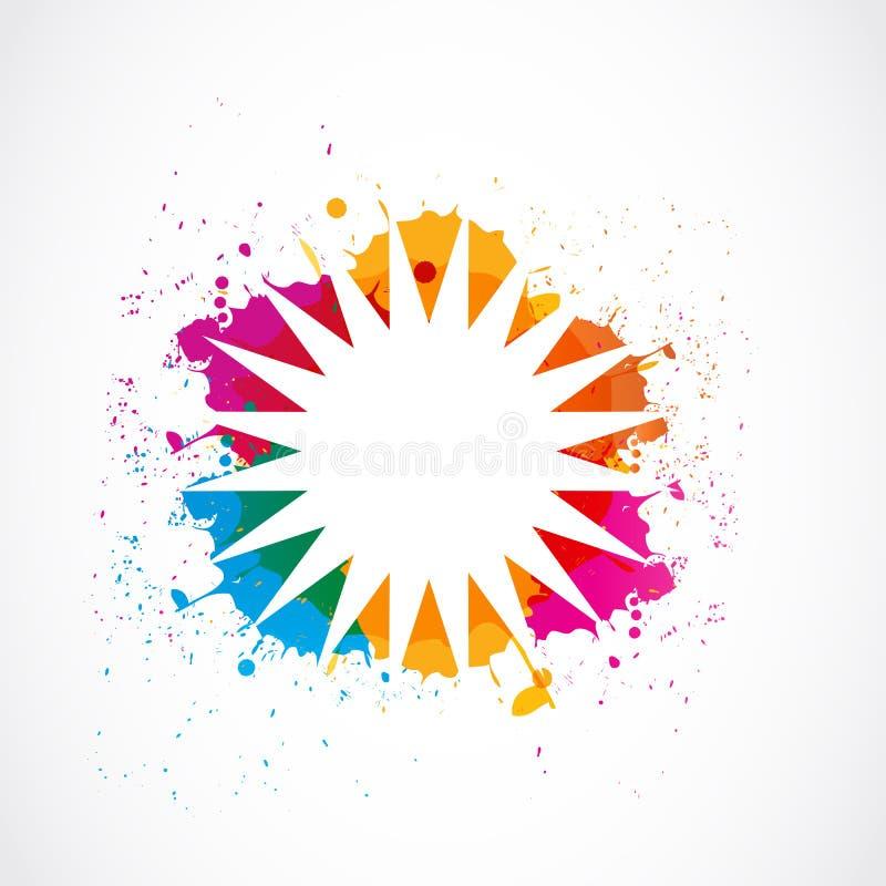 De plonskleuren van Grunge vector illustratie