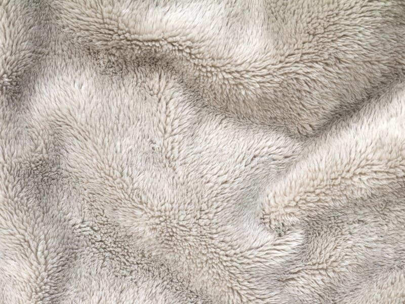 De pluizige stof van de polyestervacht royalty-vrije stock afbeeldingen