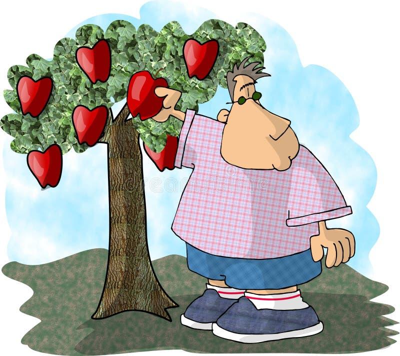 De Plukker van de appel vector illustratie