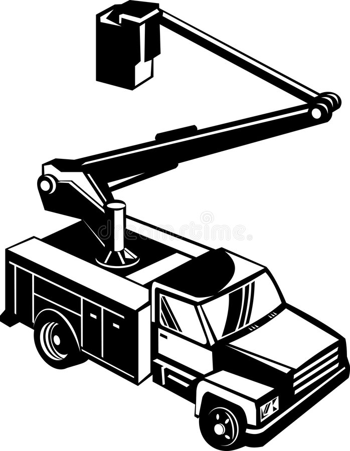 De plukker van de de vrachtwagenkers van de emmer vector illustratie