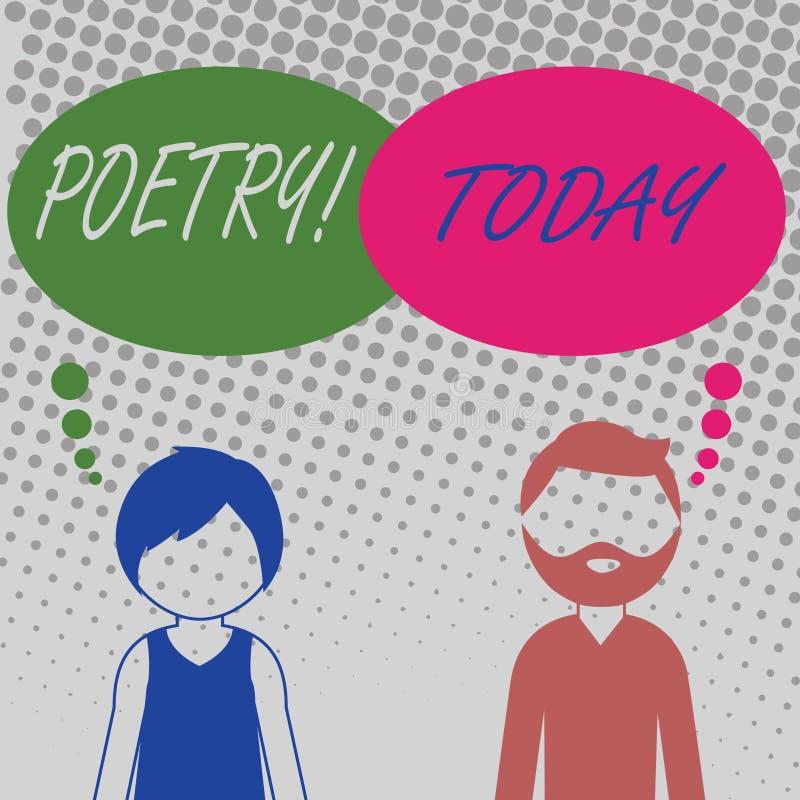 De Poëzie van de handschrifttekst Concept die het Literaire werkuitdrukking van gevoelsideeën betekenen met ritmegedichten Gebaar vector illustratie