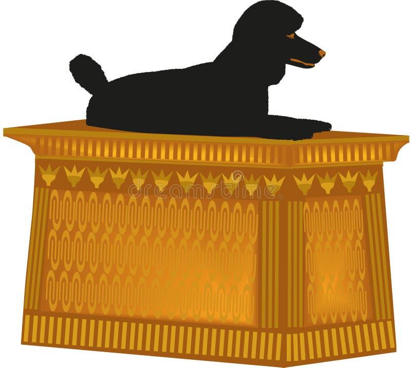 De Poedel van het hondstandbeeld stock afbeelding