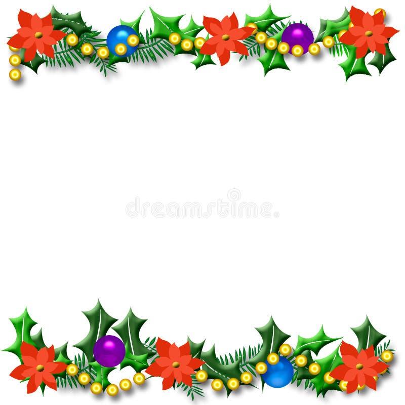 De poinsettiaframe van Kerstmis vector illustratie