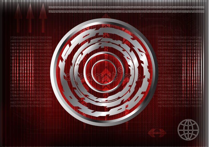 De pointe Ensemble de lignes sur un fond rouge illustration libre de droits