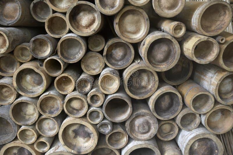 De polen van het bamboe stock afbeeldingen
