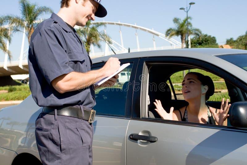 De politie van het verkeer stock afbeeldingen