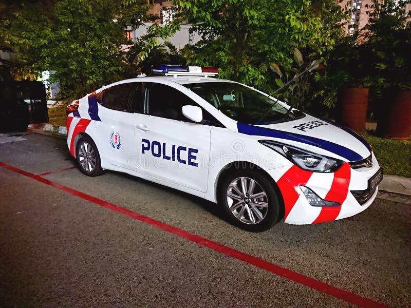 De Politie van hulpdienstsingapore stock foto