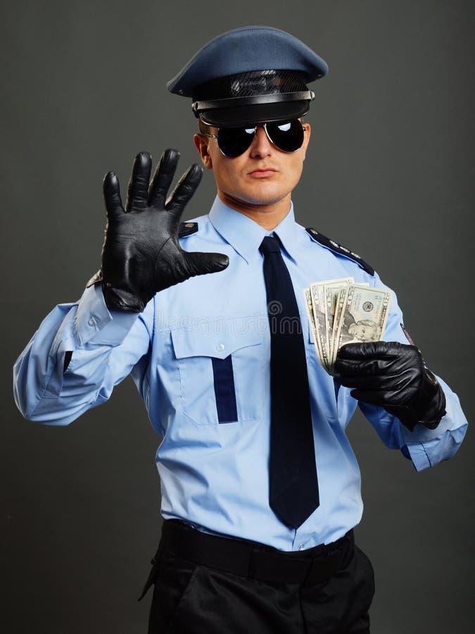 De politieagent toont einde royalty-vrije stock foto