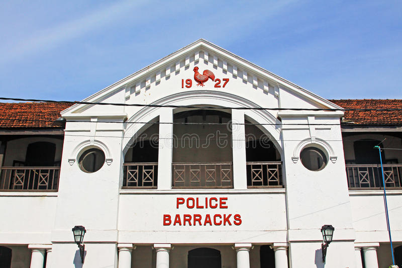 De Politiebarracks- van het Gallefort ` s Oude de Werelderfenis van Unesco van Sri Lanka royalty-vrije stock afbeelding